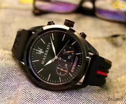 Wholesale Man Auger - 2017 Set auger leisure fashion New Luxury brand sport maserati Watches men Casual Fashion quartz watch
