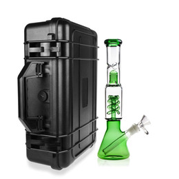 Wholesale Safety Case Box - REANICE 33CM*22CM*8.5CM Waterproof Case with foam+ICE green bong 14.5mm Equipment Carrying Case Black ABS Plastic sealed safety portable