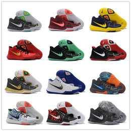 Wholesale Big Shoe Sizes For Women - 2017 Cheap Sale Kyrie Irving 2 Big Kid Women Mens Basketball Shoes for Top quality Kyrie 3s Black Gold Red Youth Sports Sneakers Size 40-46