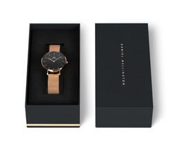 Wholesale Slim Batteries - Top Luxury Brand Rose Gold Quartz Watch 40mm and 36mm Men's Casual Japanese Quartz Watch Stainless Steel Mesh with Slim Clock Ladies'