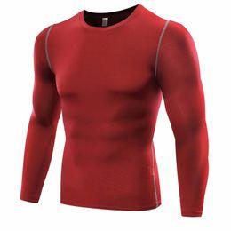 laufende taschentasche Rabatt Outdoor Männer Kompression Laufen Sport Langarm Tight Shirts Fitness GYM Base Layer Gemütliche Tops