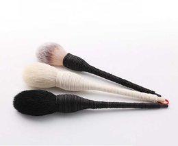 Wholesale Goat Black - New Single Wool Makeup Brush Foundation Brush Eyeshadow Brush Black   White