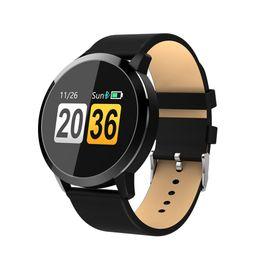 2019 pantalla táctil redonda reloj deportivo venta al por mayor Q8 Lover Smartwatch reloj inteligente IP67 impermeable Sport Fitness reloj pantalla táctil en color redondo monitor de frecuencia cardíaca pantalla táctil redonda reloj deportivo baratos