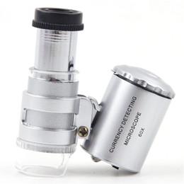 60X LED mini-microscope professionnel poche 60x loupe bijoutier LED lampe loupe lumière ? partir de fabricateur