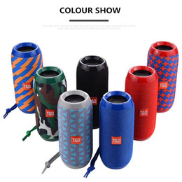 Wholesale radio horn speakers - TG116 upgrade verion TG117 Bluetooth Portable Speaker Double Horn Mini Outdoor Portable Waterproof Subwoofers Wireless Speaker