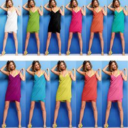 Wholesale microfiber suits - 11 Colors 70*140cm Microfiber Towel Women Home Bath Clothing Swimsuit Summer Dresses Swimwear Bathroom Accessories Bathing Home Suits WX-T15