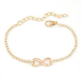 Wholesale infinity link bracelet - Infinity bracelet jewelry women's men's 1pcs 8 shape