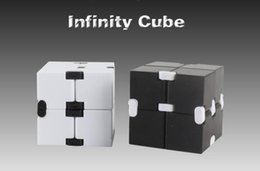 Wholesale Puzzles Toys - New Fidget Toy American Decompression Anxiety Toys Fidget Cube 4*4*4cm Infinity Cube With Retail Package