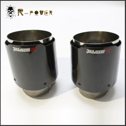 Wholesale Exhaust Fiber Carbon - ID:63MM 66MM 70MM 80MM Glossy Akrapovic exhaust car car-styling pipe muffler tip carbon fiber Sfor BMW for Volkswagen for Benz (1PCS)