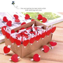 Деревянная прищепка онлайн-20 шт./лот форма сердца деревянные клипы офис украшения поставки сердце мини деревянные прищепка клипы