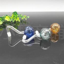 Canada Raccords de tuyauterie en tabac de couleur et de verre à boule épaissis colorés bong de cheveux au hasard. Offre
