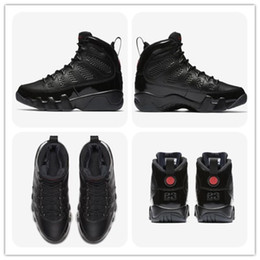 Wholesale free christmas - 9 Bred Men Basketball Shoes 9s IV 9 black Anthracite University red Sports Shoes City Of Flight Sneaker Top Quality Athletics free shippment