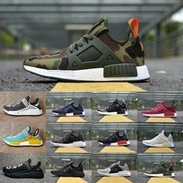 Wholesale red borders - 2018 New Original NMD_XR1 PK Running Shoes Cheap R1 NMD XR1 Runner japan Primeknit OG PK Human Race Black White Men Women Sneakers