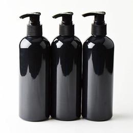 20 pcs 300 ml Preto cosméticos garrafas PET, vazio recipiente da bomba de loção shampoo embalagem plástica de cosméticos com dispensador, gel de banho de Fornecedores de chuveiros de bomba