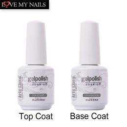 Основа Top Coat Nail Art Soak Off УФ светодиодный гель для ногтей IDO Gelish 2Pcs / Lot Foundation Top-it-Off
