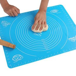 Wholesale Large Silicone Rolling Mat - Silicone Baking Mat with Scale Large Size Rolling Dough Pad Pastry Baking Board Kitchen Bakeware 50*40cm 4 Colors YW771