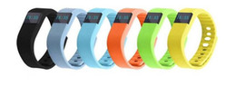 Wholesale Fits Wrist Bands - FITBIT TW64 Bluetooth Smartband fit bit wrist activity sleep wristband Smart Bracelet For IOS Android iPhone 7 Plus 6 6S Smart Band