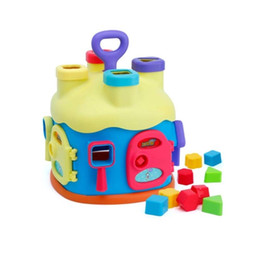 Wholesale Learning Lights - Early Teaching Shape Matching Building Blocks g Building Blocks Storys Learning House light music Shape Sorter Music House Toys for Baby Gif