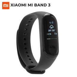 оригинальные браслеты браслет браслет Скидка Оригинал xiaomi Mi Группа 3 Смарт браслет Фитнес браслет MiBand для IOS и Android большой сенсорный экран OLED сообщение Smartband