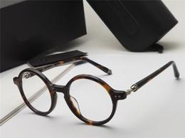 Marcos de gafas unisex de metal redondo online-Gafas redondas de anteojos redondos ELSTER de plata negra Ópticos hombres gafas de diseñador de lujo gafas unisex Nuevo con estuche