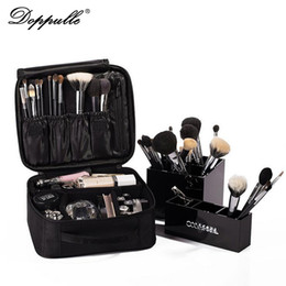 Wholesale Red Makeup Box - DOPPULLE Brand Women Multilayer Professional Makeup Bag Travel Portable Cosmetic Box Storage Case Ladies Large Capacity Suitcase