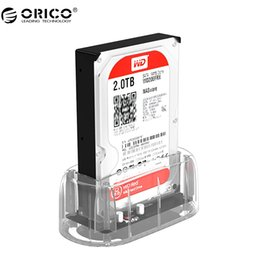 "Wholesale Hard Drive Docking Stations - ORICO 2.5''  3.5"" HDD Transparent Docking Station Support 8TB Storage UASP Protocol USB 3.0 to SATA 3.0 Hard Drive Enclosure"