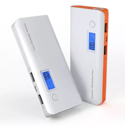 Discount xiaomi portable charger - New Portable Double USB Power Bank 12000mAh LCD Display External Backup Battery for iPhone huawei xiaomi mobile Phone Universal Charger