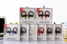 Wholesale Earpiece For Blackberry - Universal Bluetooth Earphones Headphones Stereo Bass Headset Sport Earpieces Ear Hook Earbuds G5 brand power 3 Wireless With Mic DHL Free