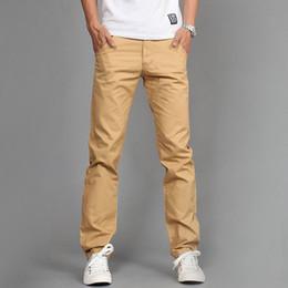 Wholesale business casual trousers - 2018 New Design Casual Men Pants Cotton Slim Pant Straight Trousers Fashion Business Solid Khaki Black Pants Men Plus Size 38
