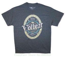 56a97cf51 Volbeat Vol Beer Drunk Again My Baby Adult Grey T Shirt Hip Hop Novelty T  Shirts Men's Brand Clothing