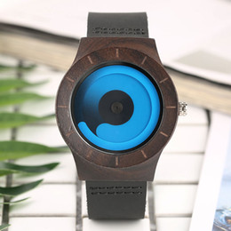 Wholesale Wooden Pointer - Creative Watches Wooden for Couple Rotating Pointer Men Women Concept Bamboo Quartz Watch Future Style Unique Wristwatch masculino Gifts