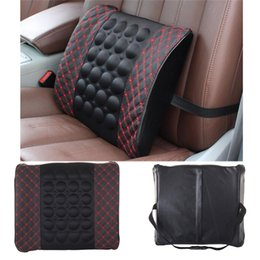 Wholesale Car Seat Cushion Back Support - 1pc Car Pillow Space Memory Fabric Lumbar Back Support Waist Cushion Pillow Car Covers Car Seat Cover Back Relaxation Pillow