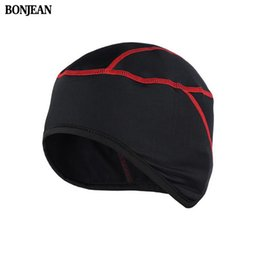 Wholesale bike hats caps - BONJEAN Winter Warm Up Fleece Thermal Cycling Caps MTB Bike Bicycle Hats Leisure Outdoor Sports Running Camping Hiking Caps H0