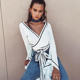 b1ce8d331d9be White Wrap Blouses Canada   Best Selling White Wrap Blouses from Top ...