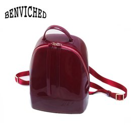 Wholesale Cute Women Nudes - BENVICHED 2017 New Fashion Women Cute Silicone Backpack Female Travel Bags Girl School Candy Bag Lady Waterproof jelly Bag L027