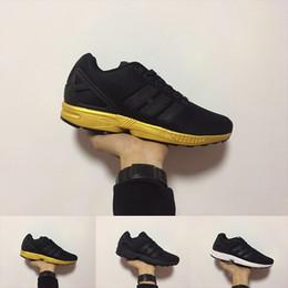 promo code bc71b 74967 2018 Nuovo arrivo ZX FLUX scarpe da ginnastica da uomo zx flux scarpe  sportive da ginnastica oro nero scarpe da ginnastica economiche taglia  36-45 Mujer ...
