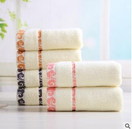 Wholesale Textile Rolls - 100% Cotton face towel 74*34cm good quality Impeccable printed design home textile bathroom towels 20pcs lot free shipping