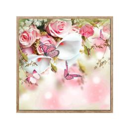 Creativo senza cornice 5D fai da te resina pittura diamante farfalla floreale piena piazza trapano diamante pittura a punto croce con diamanti da eseguire cavalli dipinti ad olio fornitori