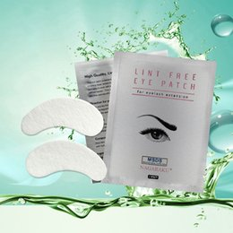 Wholesale Lint Free Eye Pads Wholesale - NAGARAKU Hot Sale 100 pairs lot silk eye pads, under eye patch,lint free under eye gel patches for eyelash extension