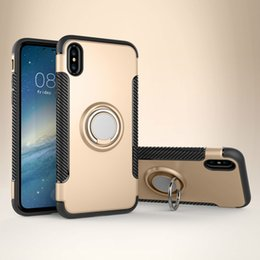 cellphone ring case Coupons - Cellphone Case with Ring Holder For iphone 7 8 6 X 6S TPU Silicone Case iphone 6 7 8 Plus Soft shell Mobile Phone Caser With Finger Ring