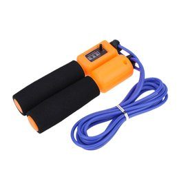 Wholesale gym jump - itness Equipments Ropes Automatic Digital Jump Counter Counting Bearing Skipping Jump Rope Exercise Fitness Training Gym Sports Foam Spo...