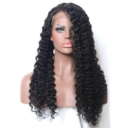 Kinky rizado pelo virginal peluca llena del cordón para las mujeres negras mongol peluca delantera del cordón del pelo humano mongol 8-28 pulgadas desde fabricantes