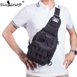 écharpe tactique en nylon Promotion SINAIRSOFT Tactical Chest pack Mouche équipement 600D Nylon Wading Poitrine Pack Crossbody Sling Unique Sac à bandoulière Sports de plein air Sac à dos LY0014