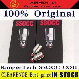 kanger subtank spule für rba Rabatt 100% authentische Kangertech SSOCC vertikale Spulen Kopf Upgrade 0,5 1,2 1,5 Ohm für Ersatzkanger passen Toptank Nebox Subvod Atomizer
