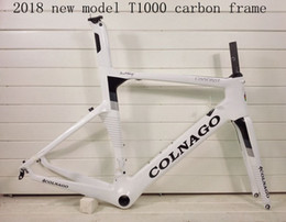 bicicleta de fibra de carbono preta fosca Desconto 2018 NOVO colnago conceito T1000 UD carbono bicicleta cheia de carbono quadro da bicicleta de estrada de corrida frameset branco preto cor, vender rodas