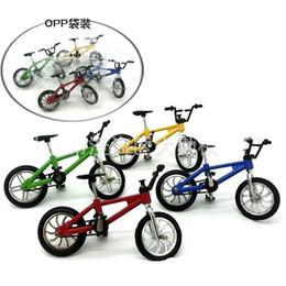 Wholesale Toy Bike Wheels - Alloy Novelty Toy Bike Originality Simulation Mini Finger Interesting Bicycle Model Small Wheel Single Car New Arrival 3dq W