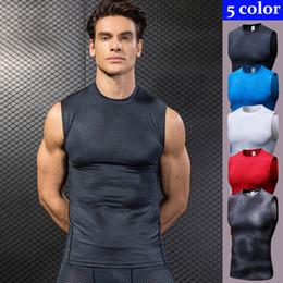 Camisas de futebol sem mangas on-line-Camisa sem mangas esporte dos homens de secagem rápida dos homens colete de corrida colete de fitness ginásio de fitness top homens camisa de futebol
