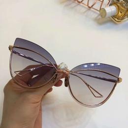 2019 óculos de sol pássaros Noite das mulheres pássaro-Um Rose Gold Cat Eye Óculos De Sol Das Senhoras de Luxo Designer de óculos de sol Olho desgaste Novo com Caixa óculos de sol pássaros barato