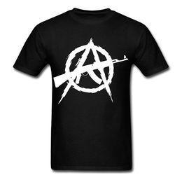 fusil de asalto Rebajas Anarquía Anarquista 2ª enmienda Arma derechos rifle de asalto símbolo de la camiseta camiseta Divertido envío gratis Unisex Casual regalo