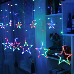 Le lune stellano la luce di stringa online-LED Light Light Star and Moon Holiday Light Light Impermeabile 2M 138led Lampada decorativa per matrimonio, festa, luci natalizie